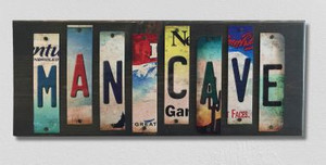 Man Cave Wholesale Novelty License Plate Strips Wood Sign