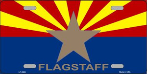 Flagstaff Arizona State Flag Wholesale Metal Novelty License Plate