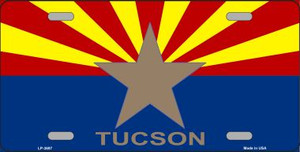 Tucson Arizona State Flag Wholesale Metal Novelty License Plate LP-3697