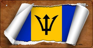 Barbados Flag Scroll Wholesale Novelty Bicycle Plate BP-9094