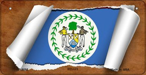 Belize Flag Scroll Wholesale Novelty Bicycle Plate BP-9095