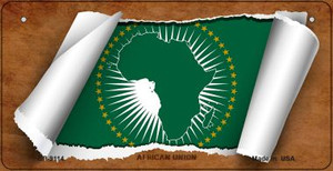Africa Union Flag Scroll Wholesale Novelty Bicycle Plate BP-9114