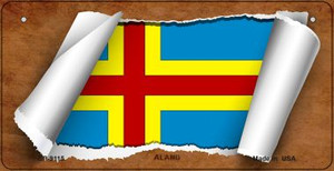 Aland Flag Scroll Wholesale Novelty Bicycle Plate BP-9115