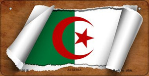 Algeria Flag Scroll Wholesale Novelty Bicycle Plate BP-9118