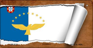 Azores Flag Scroll Wholesale Novelty Bicycle Plate BP-9131
