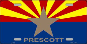 Prescott Arizona State Flag Wholesale Metal Novelty License Plate