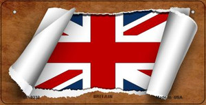 Britain Flag Scroll Wholesale Novelty Bicycle Plate BP-9332