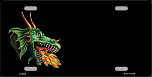 Dragon Offset Customizable Wholesale Metal Novelty License Plate