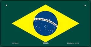 Brazil Flag Wholesale Novelty Bicycle Plate BP-481