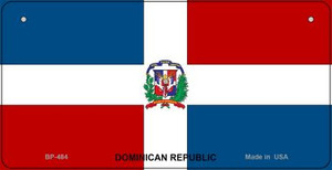 Dominican Republic Flag Wholesale Novelty Bicycle Plate BP-484