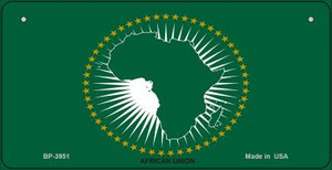 Africa Union Flag Wholesale Novelty Bicycle Plate BP-3951