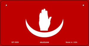 Anjouan Flag Wholesale Novelty Bicycle Plate BP-3959