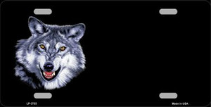 Wolf Offset Wholesale Metal Novelty License Plate