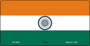 India Flag Wholesale Novelty Bicycle Plate BP-4032