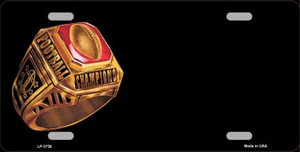 Football Champ Ring Offset Wholesale Metal Novelty License Plate