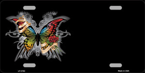 Butterfly Offset Wholesale Metal Novelty License Plate