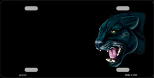 Panther Offset Wholesale Metal Novelty License Plate