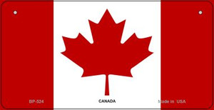 Canada Flag Wholesale Novelty Bicycle Plate BP-524