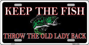 Keep the Fish Wholesale Metal Novelty License Plate