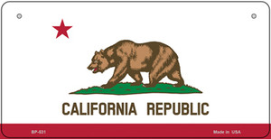 California Flag Wholesale Novelty Bicycle Plate BP-531