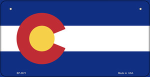 Colorado Flag Wholesale Novelty Bicycle Plate BP-3571
