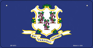 Connecticut Flag Wholesale Novelty Bicycle Plate BP-3572