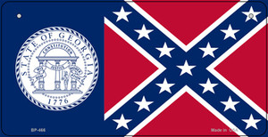Georgia Old State Flag Wholesale Novelty Bicycle Plate BP-466