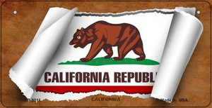 California Flag Scroll Wholesale Novelty Bicycle Plate BP-9011