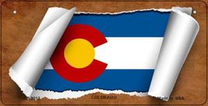 Colorado Flag Scroll Wholesale Novelty Bicycle Plate BP-9012