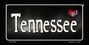 Tennessee Flag Script  Wholesale Novelty Bicycle Plate BP-9480