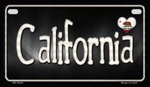 California Flag Script Wholesale Novelty Motorcycle Plate MP-9443