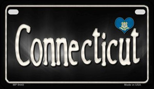 Connecticut Flag Script Wholesale Novelty Motorcycle Plate MP-9445