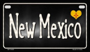 New Mexico Flag Script Wholesale Novelty Motorcycle Plate MP-9469
