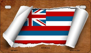 Hawaii Flag Scroll Wholesale Novelty Motorcycle Plate MP-9017