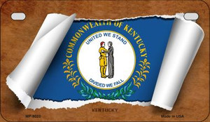 Kentucky Flag Scroll Wholesale Novelty Motorcycle Plate MP-9023