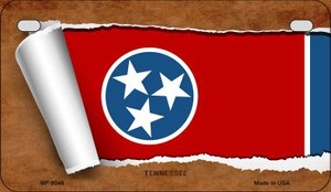 Tennessee Flag Scroll Wholesale Novelty Motorcycle Plate MP-9048