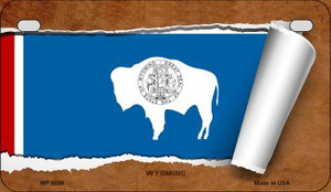 Wyoming Flag Scroll Wholesale Novelty Motorcycle Plate MP-9056