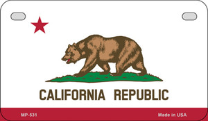 California Flag Wholesale Novelty Motorcycle Plate MP-531