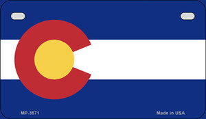Colorado Flag Wholesale Novelty Motorcycle Plate MP-3571