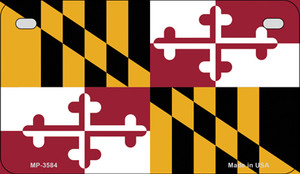 Maryland Flag Wholesale Novelty Motorcycle Plate MP-3584