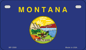 Montana Flag Wholesale Novelty Motorcycle Plate MP-3589