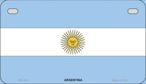 Argentina Flag Wholesale Novelty Motorcycle Plate MP-474