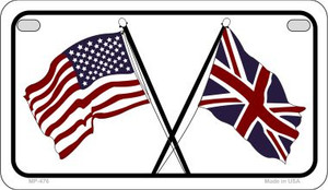 USA / Britain Flag Wholesale Novelty Motorcycle Plate MP-476