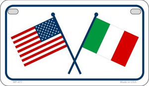 USA / Italy Flag Wholesale Novelty Motorcycle Plate MP-477