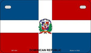 Dominican Republic Flag Wholesale Novelty Motorcycle Plate MP-484