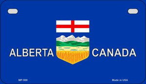 Alberta Canada Flag Wholesale Novelty Motorcycle Plate MP-500