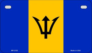Barbados Flag Wholesale Novelty Motorcycle Plate MP-2152
