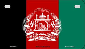 Afghanistan Flag Wholesale Novelty Motorcycle Plate MP-3950