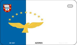 Azores Flag Wholesale Novelty Motorcycle Plate MP-3967