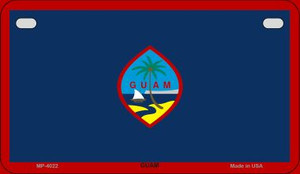 Guam Flag Wholesale Novelty Motorcycle Plate MP-4022
